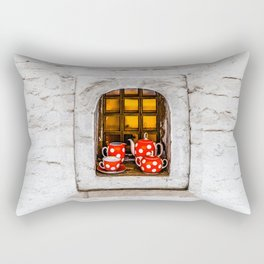 Tea Party Invitation Rectangular Pillow