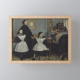 Edgar Degas - The Bellelli Family Framed Mini Art Print