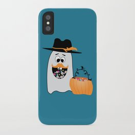 Silly Halloween Ghost Wants Your Candy iPhone Case