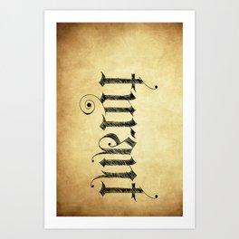 "TYRANT ""Aged"" Art Print"