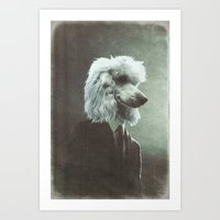 poodle Art Prints featuring Poodle by womoomow