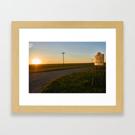 Hauge Cemetery Sunset Framed Art Print