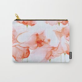 Peach Whispers Carry-All Pouch