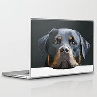 rottweiler Laptop & iPad Skins featuring Rottweiler Portrait Vector by taiche