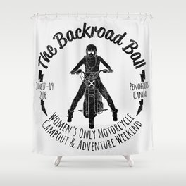 The Backroad Ball (black version) Shower Curtain