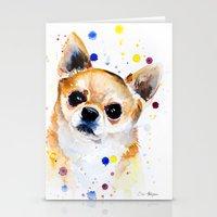 chihuahua Stationery Cards featuring Chihuahua by Slaveika Aladjova