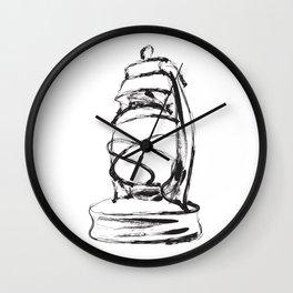Southern Culture: Lamp Wall Clock