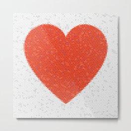 Heart Mosaic Hexagons Metal Print