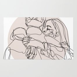 spread hugs Rug