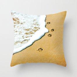 Paw Prints Throw Pillow