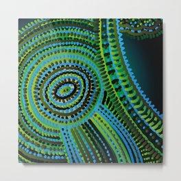 turquoise circus Metal Print