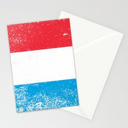 Luxembourg National Flag Grunge Stationery Cards