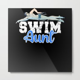 Swim Aunt Metal Print