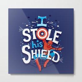 I stole his shield Metal Print