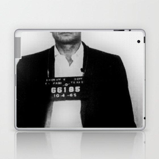 Johnny Cash Mug Shot Country Music Laptop & iPad Skin