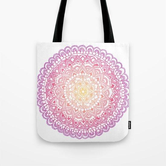 Sunset Mandala  Tote Bag