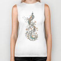 peacock Biker Tanks featuring Peacock by Tracie Andrews