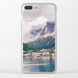 Wandering in Fjords Clear iPhone Case