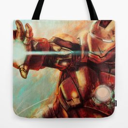 Big man in a suit of armor Tote Bag