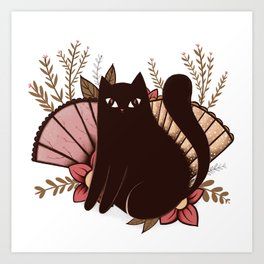 Japanese Kitty Art Print