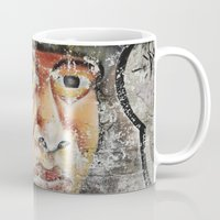 indian Mugs featuring Indian by Lia Bernini