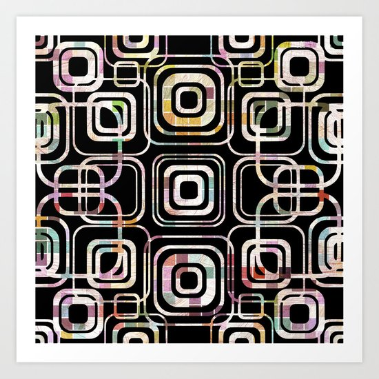 Colorful cube ring Art Print