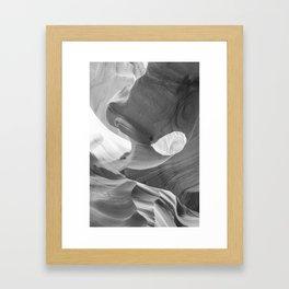 ANTELOPE CANYON XXII (B+W) Framed Art Print