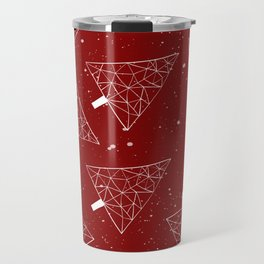Christmas Trees Red Travel Mug