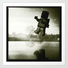 Boba Fetts flight Art Print