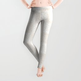 Wedding Thistle Brocade in Candlelight and Cream Leggings