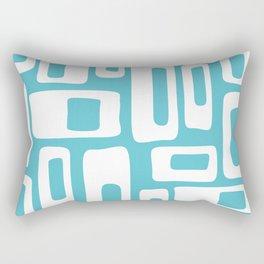 Retro Mid Century Modern Abstract Pattern 335 Light Aqua Blue Green Rectangular Pillow