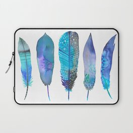 Feathers / Harmony in Blue Laptop Sleeve