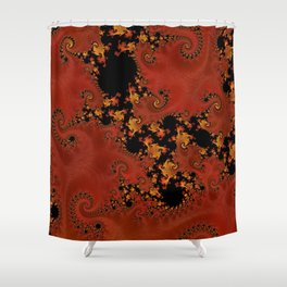 Fanning The Flames Shower Curtain