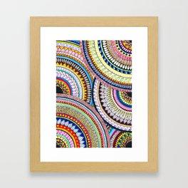 Colourful Pattern Mandala Framed Art Print