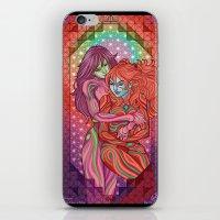 evangelion iPhone & iPod Skins featuring Evangelion - Mari and Asuka  by Morgane Grosdidier de Matons
