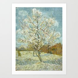 Vincent Van Gogh Peach Tree In Blossom Art Print