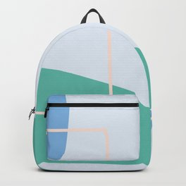 Live with love - on blue background Backpack