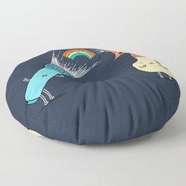 Together we make rainbow Floor Pillow