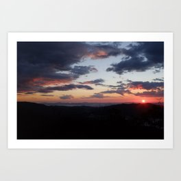 Blue Ridge Parkway Sunrise Art Print