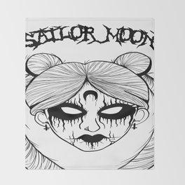 Black Metal Sailor Moon Throw Blanket