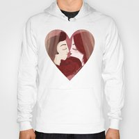lovers Hoodies featuring Lovers by Pendientera