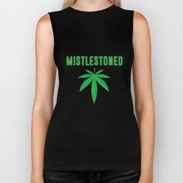 Mistlestoned Stoner Weed Cannabis Leaf T-Shirt Biker Tank