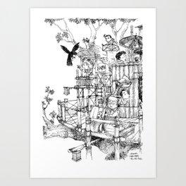 La Cabane Idéale / The Ideal Cabin Art Print
