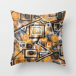 CIRCLES AND SQAURES Throw Pillow