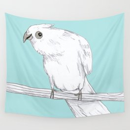 Bald-Eyed Cockatoo Wall Tapestry