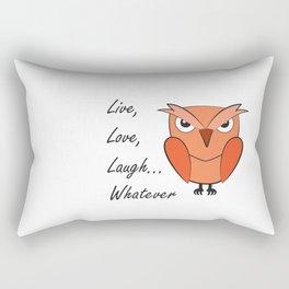 Cool sarcastic owl Rectangular Pillow