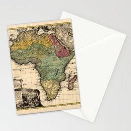 Map Of Africa 1752 Stationery Cards
