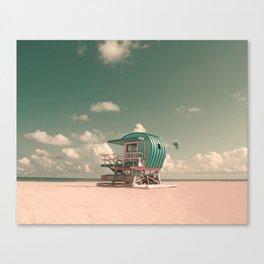 Miami Beach Lifeguard Yearning Fine Art Photography by Roman Gerardo Canvas Print