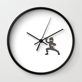 Teacher Ninja  Samurai Ninjas Gift Japanese Ninja stars Fighter Gift Wall Clock