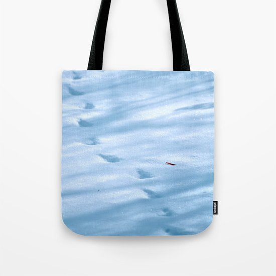 Snow Fall Feather Tote Bag